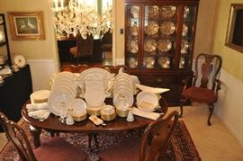 Lovely dining room overflowing with everything you need for entertaining during the holidays!