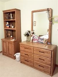 Matching dresser and bookcase/hutch