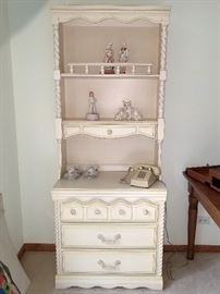 White chest with hutch