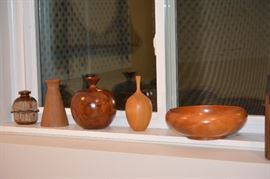 Turned bowls and vases