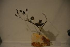 C. Jere birds in tree