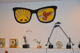 Soli beer sign sun glasses