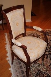 Chairs are In Excellent Condition and the Chairs have a Beautiful White/Gold Delicate Print