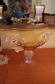 Beautiful Glass Serving Pieces