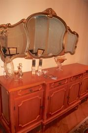 Buffet and Large Wall Mirror