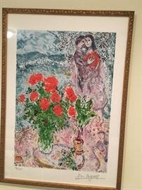 Signed Chagall Limited Edition Lithograph