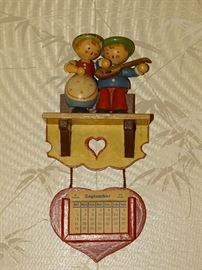 Vintage wooden miniature doll collection