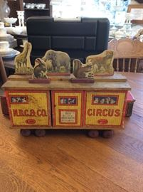 Wood Circus cars with animals