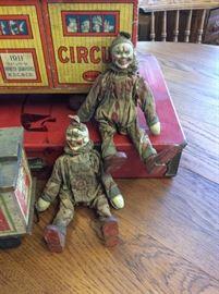 Antique Rare Schoenut Circus Clowns