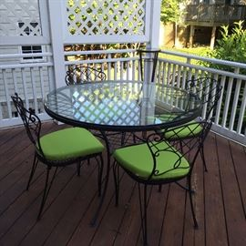 4 beautiful iron English chairs (not including the table) 100$ These items can picked up from today  301-571-9181