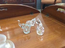 Swarovski Crystal Figurines.