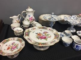 Meissen Dishes and Tea Sets.