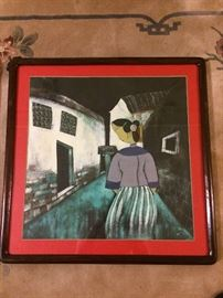 Chinese framed painting (not signed)