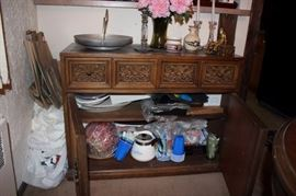 Cabinet filled with Household Items
