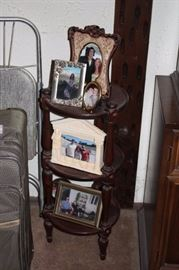 3 Tiered Round Side Table and Photo Frames