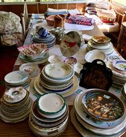 This china plate collection includes nature artwork plates from Brumm's of Charlevoix, MI to plates from foreign lands including Egypt, China, Japan, Africa as well as specialty and uniquely cut plates.