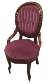Eggplant Victorian parlor chair
