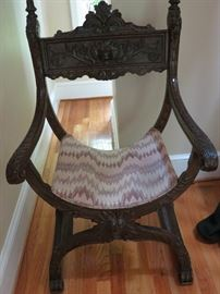 "Antique ""Queen"" chair"