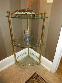 Beautiful solid brass corner stand