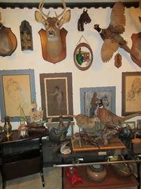 Taxidermy and original art....just a sampling