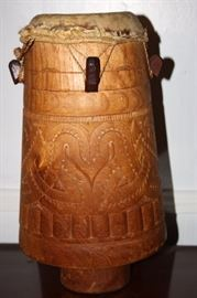 Vintage Native South American Drum