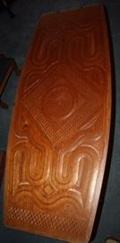 Fantastic Hand Carved Suriname Teak Wood Coffee Table