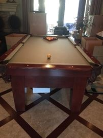 billiard table in excellent condition