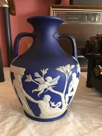 "19th century Wedgewood Portland jar  Over 10"" tall"