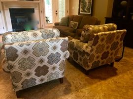 Pair of Highland House Designer Club Chairs