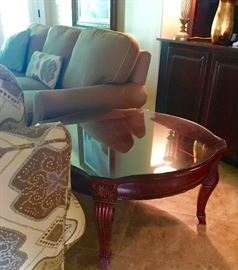 Grand Revival  by American Drew Side Tables with glass tops