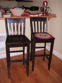 Two bar/counter stools