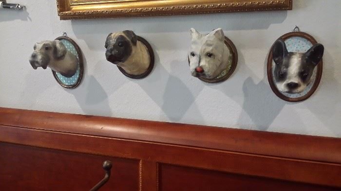 ANTHROPOLOGIE DOG WALL PLAQUES