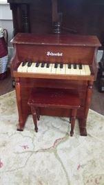 TOY SCHOENHUT PIANO with BENCH