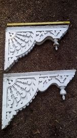 PAIR OF VICTORIAN ANTIQUE CORBELS ABOUT 3 FT. EXTENSION