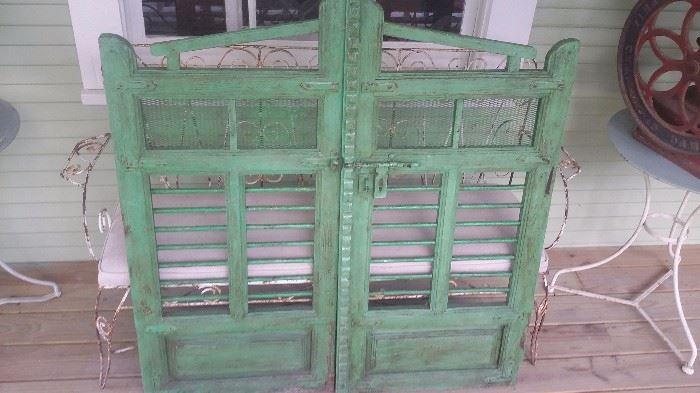 WONDERFUL  PAIR OF ANTIQUE WOOD DOORS