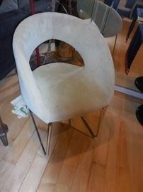 Mid Century Style Crome Frame Side chair