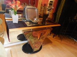 Hand Painted, Lighted Entry Way Console Table