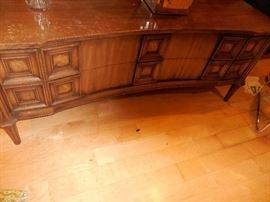 Mid Century Traditional Sofa Table