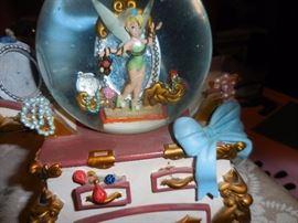 Tinkerbell Jewelry Music Snow Globe