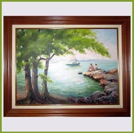 Lovely Florida Style Oil Painting