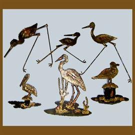 Small Metal Bird Sculptures