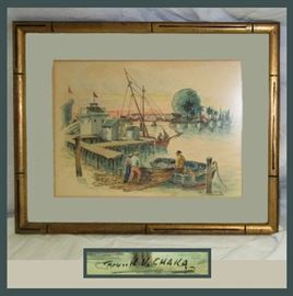 Very Nice Frank V. Chaka Signed Watercolor