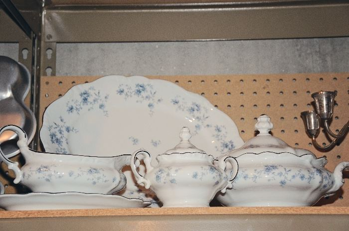 "Johann Haviland ""Blue Garland"" 3 Sets of 12 + 2 Serving Sets"