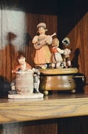 "Norman Rockwell Figurine ""Love Letter"", wind up music box"