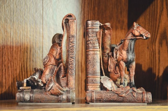 Western Theme Bookends