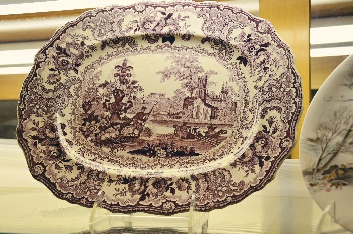 "Adams Ironstone ""Fountain Scenery"" Platter"