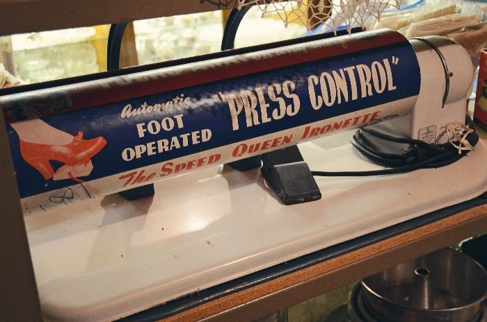 "The Speed Queen Ironette Foot Operated ""Press Control"""