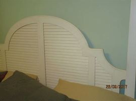 Headboard view of Ethan Allen Bed