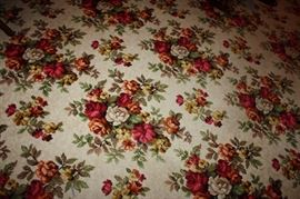 approximately 300 square feet of this Gorgeous Vintage Floral Pattern Carpet is for sale!