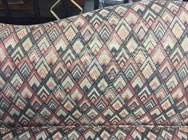 Vintage upholstered loveseat settee